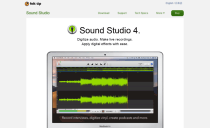 Mac-sound-studio com website  Sound Studio 4 - Mac App for Audio