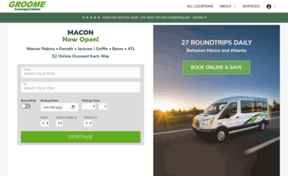 Groome Transportation Macon >> Macon Groometransportation Com Website Macon Shuttle