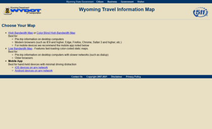 Map.wyoroad.info website. Wyoming Travel Information Map - Choose ...