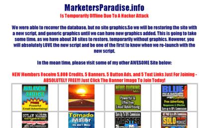 Marketersparadise info website  Index