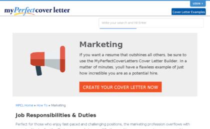 Marketingmyperfectcoverletter Website Leading Marketing Cover