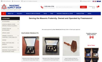 517618a30b Masonicsupplyshop.com website. Masonic Supply Shop  Masonic Aprons ...