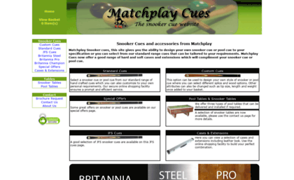 Matchplay Cues.com