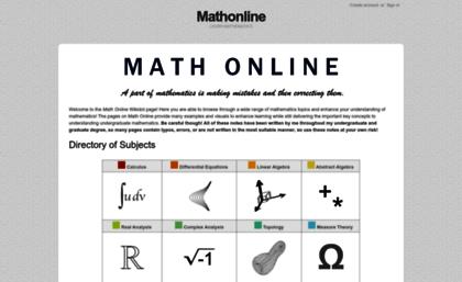 Mathonline.wikidot.com website. Mathonline.