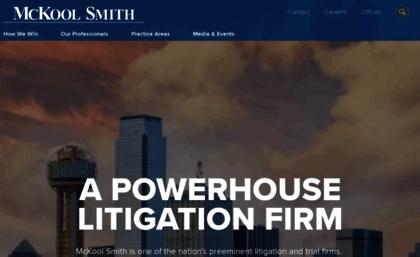 Mckoolsmith com website  McKool Smith Home Page