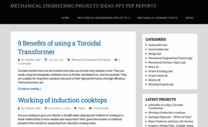 Mechanicalengineeringprojects Net Website Mechanical Engineering Projects Ideas Seminars Final Year