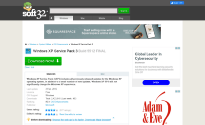 Microsoft-windows-xp-service-pack-3 soft32 com website