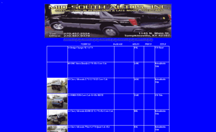 Mid Southautosnet Website Rebuildable Salvage Cars And Trucks
