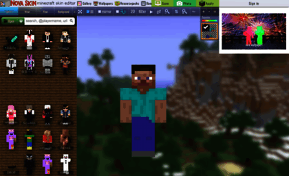 Minecraft Novaskin Me Website Nova Skin Minecraft Skin Editor Sur.ly for joomla sur.ly plugin for joomla 2.5/3.0 is free of charge. websites milonic com