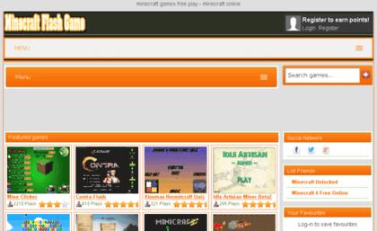 Minecraftflashgamecom Website Minecraft Flash Game - Minecraft flash spielen