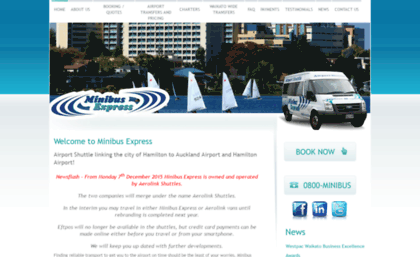 Minibus co nz website  Airport Shuttle Service Auckland to