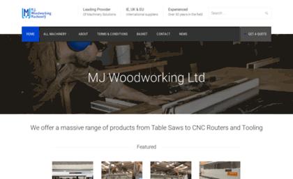 Mjwoodworking.co.uk website. MJ Woodworking Machinery Ltd.