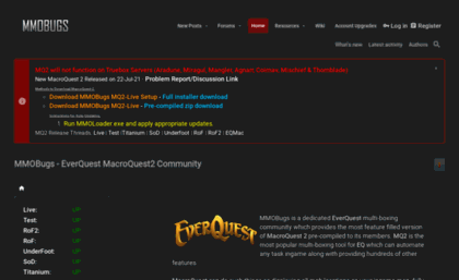 Mmobugs com website  MMOBugs - EverQuest's Largest
