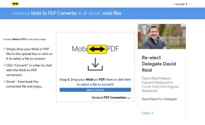 convert mobi to pdf free online