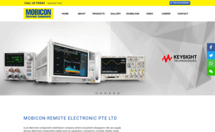 Mobicon com sg website  Electronics Components Distributor