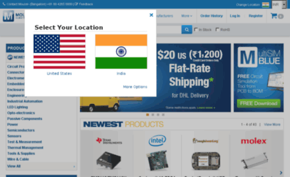 Mouser in website  Mouser Electronics - Electronic Components