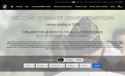Murraybmwofdenvercom website BMW of Denver Downtown  Luxury Car