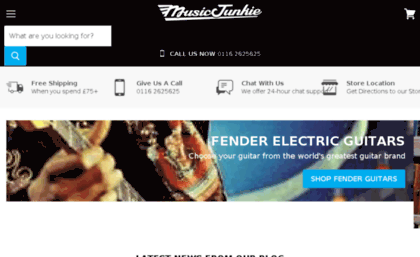 Music-junkie co uk website  Music Shop in Leicester | Music