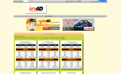 My4dresult com website  Malaysia 4D results and 4d results portal