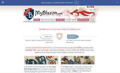 Myblazon com website  Coat of Arms maker with genuine