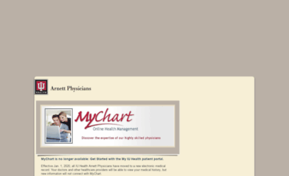 Mychart Iuhealth Org Website Mychart Login Page