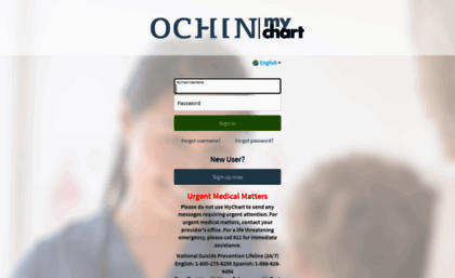 Mychart ochin org website mychart login page