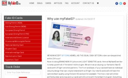Myfakeid biz website  Fake ID - fake identification cards UK by
