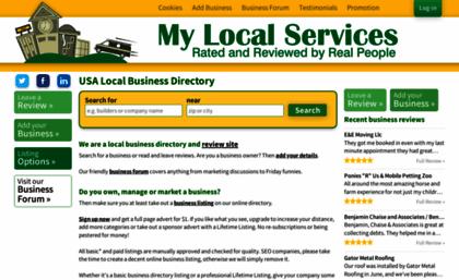 Mylocalservices com website  Local Business Listings, USA Business