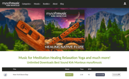 Mysoftmusic com website  Download Music for Meditation Relaxation