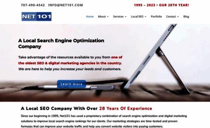 Net101 com website  SEO And Digital Marketing Company, Santa