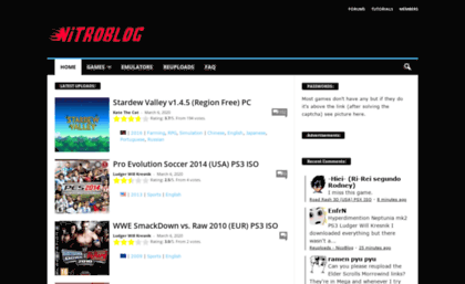 Nicoblog org website  Nitroblog - PC PS3 VITA WII ISO ROM Download