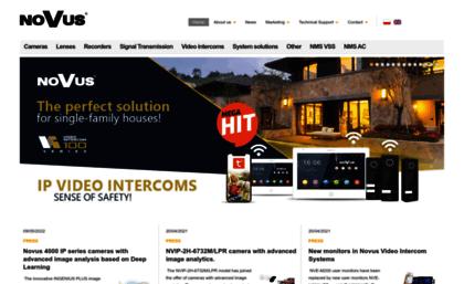 Novuscctv com website  NOVUS Professional solution for your