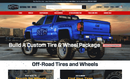 National Tire And Wheel >> Ntwonline Com Website Off Road Tires Wheels Accessories