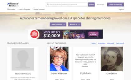Obituaries register-herald com website  Obituaries | The Register