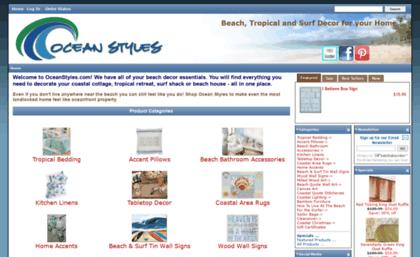 Oceanstylescom website Beach Coastal and Tropical Home Decor