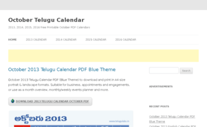 Telugu Calendar 2015 Pdf