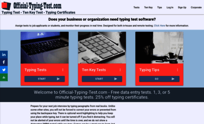 Official-typing-test com website  Official-Typing-Test com