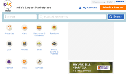 Oix in website  Free classifieds in India, Classified ads in