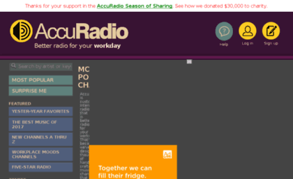 Old accuradio com website  Free Internet Radio | AccuRadio Online