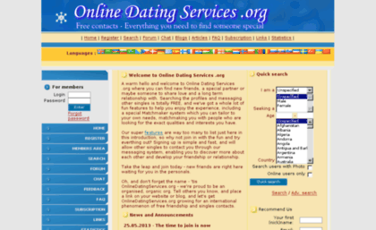 online dating services for free