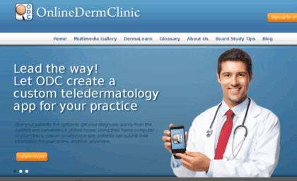 Onlinedermclinic com website  Online Dermatologist Consult & Skin