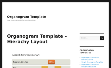 Website organogram template free for Organigram template