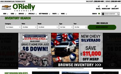 Orielly Chevrolet Tucson >> Orielly Com Website O Rielly Chevrolet Tucson Arizona