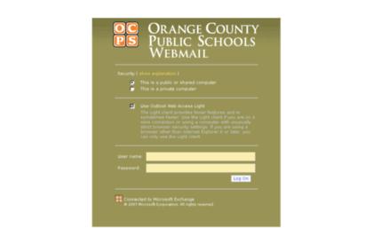 www owa ocps net
