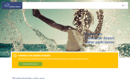 Parkenfrankfurt Airportcom Website Parken Am Flughafen Frankfurt