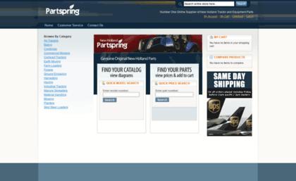 Partspring com website  New Holland