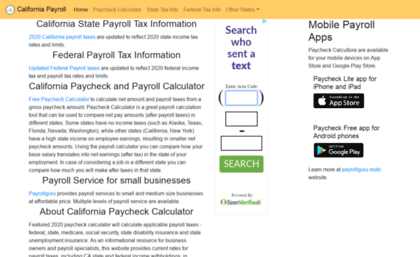 payrollguru net website california payroll paycheck calculator