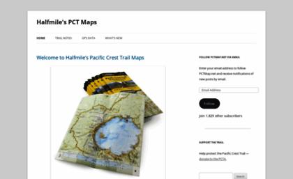 Pctmap.net website. Halfmile\'s PCT Maps | Pacific Crest ...