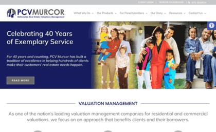 pcvmurcor com website appraisal management company real estate