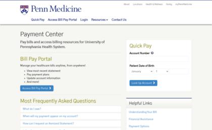 Pennmedbill com website  Penn Medicine Patient Billing